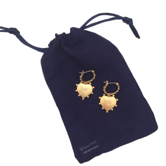 Tory Burch Tory Burch Mother of Pearl Heart Earrings Image 5