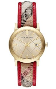 Burberry New Burberry Bu9139 Stick Indices Trench Haymarket Check Women Watch