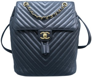 Chanel Calfskin Leather Backpack