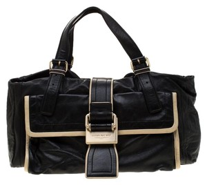 Givenchy Cream Leather Satchel in Black