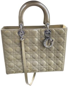 ebd7c8ba2c1 Beige Patent Leather Dior Totes - Up to 70% off at Tradesy