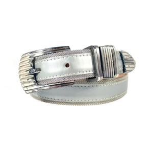 "B.B. Simon B.B. SIMON Silver Mesh/Leather Belt Women's S (24.5""-28.5"")"
