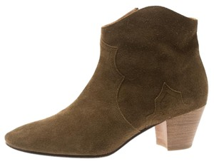 Isabel Marant Suede Ankle Leather Brown Boots