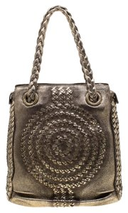 Bottega Veneta Metallic Leather Hobo Bag