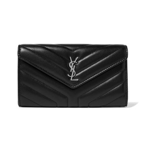 Saint Laurent monogram quilted leather wallet