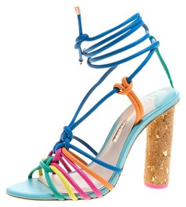 Sophia Webster Leather Ankle Multicolor Sandals