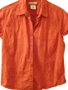 Columbia Sportswear Company Button Down Shirt Rust