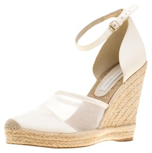 Stella McCartney Faux Leather Mesh White Sandals