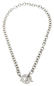 Tiffany & Co. Sterling Silver Chain Toggle Necklace