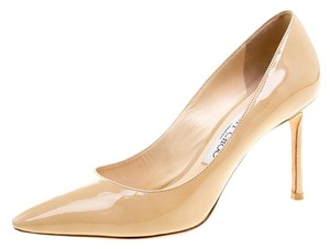 Jimmy Choo Patent Leather Beige Pumps