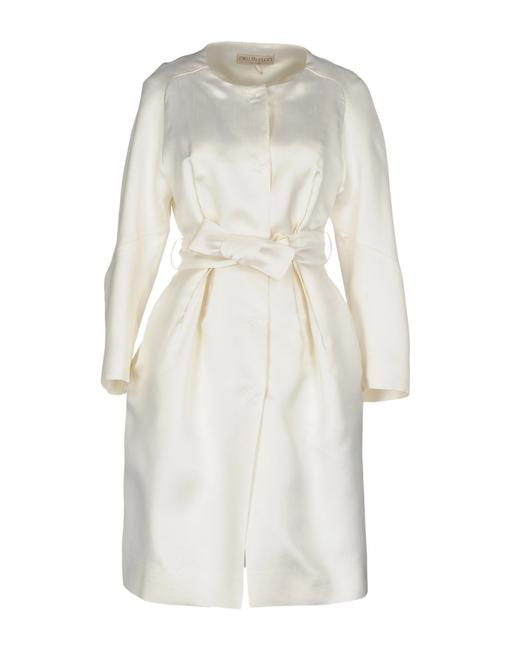Preload https://img-static.tradesy.com/item/25379186/emilio-pucci-white-silk-shantung-coat-mid-length-formal-dress-size-8-m-0-0-650-650.jpg