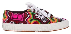 Superga Embroidered Stitched Lace Up Pink Athletic