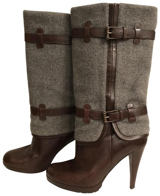 Item - Brown Gray Nike Air Kennedy Leather Wool Boots/Booties Size US 8 Regular (M, B)