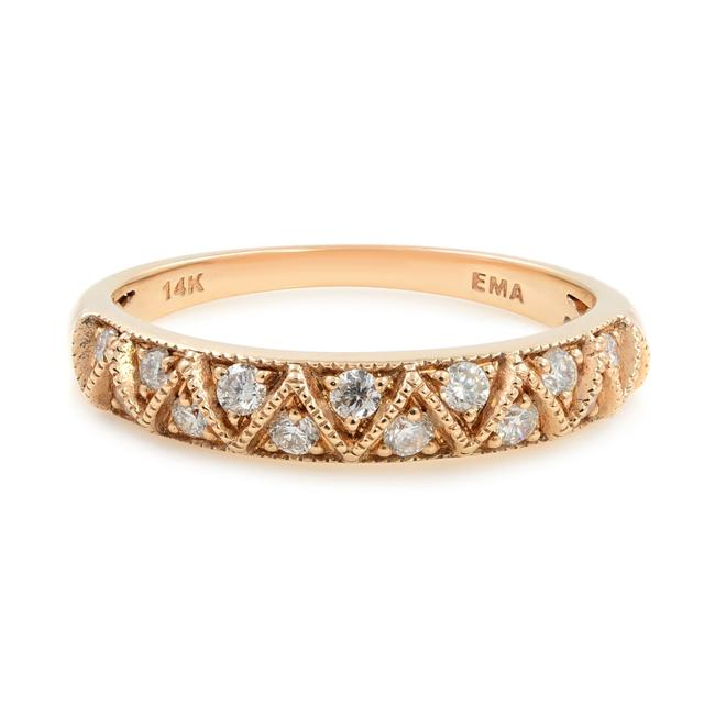 Item - 14k Rose Gold Diamond Wedding Band Stackable 0.20cttw Ring