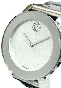Movado Movado Bold 3600334 Swiss Silver Tone Glitter Dial Ladies Watch