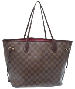 Louis Vuitton Real Travel School Work Business Beach Carryon Keepall Speedy Alma Carryall Tote in Brown/Red