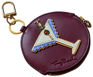 Tory Burch Tory Burch Martini Leather Coin Case Key Fob