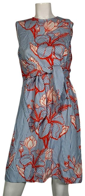 Preload https://img-static.tradesy.com/item/25379735/lela-rose-multicolor-tie-front-printed-twill-mini-light-blue-floral-mid-length-short-casual-dress-si-0-2-650-650.jpg