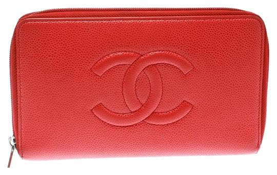 Preload https://img-static.tradesy.com/item/25379914/chanel-red-coral-caviar-leather-large-cc-zip-around-wallet-0-1-540-540.jpg