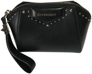 861834bc28143 Givenchy Leather Luxery Embellished Black Clutch