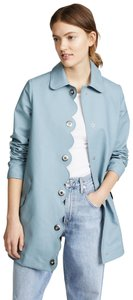 Hunter Water-resistant Perforated Scalloped Raincoat