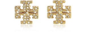 Tory Burch Gold Stud Pave Crystal Logo #5740475 Earrings