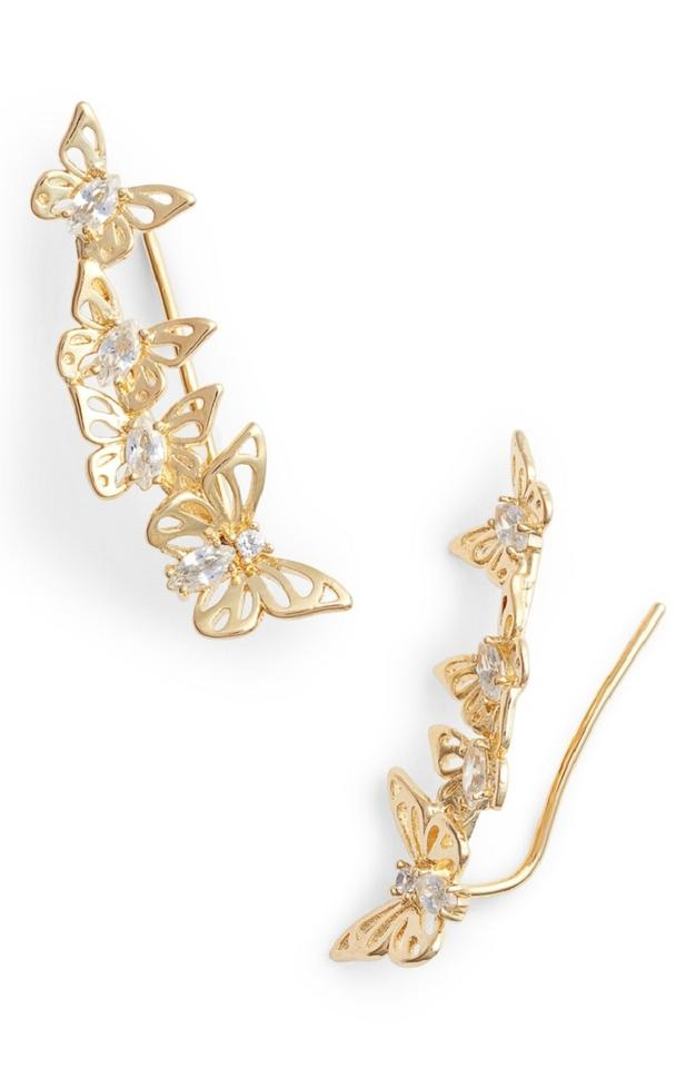 14e30a28e Kate Spade Social Butterfly Ear Pin Earrings style # wbruf385 Image 8.  123456789