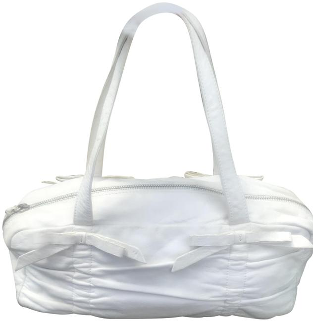 Item - White Lambskin Leather Tote