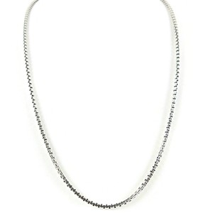 "David Yurman David Yurman Sterling Silver 14K Gold 20"" Small Box Chain Necklace"