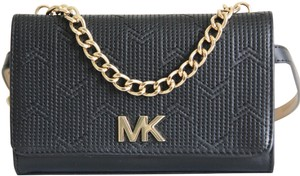 Michael Kors Michael Kors Pebbled Deco M Quilted Leather Fanny Pack Size S/M Black