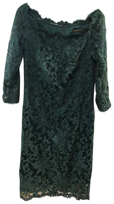 Item - Green Lace Mid-length Formal Dress Size 12 (L)
