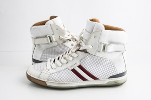 Bally White Oldani Hi-top Sneaker Shoes