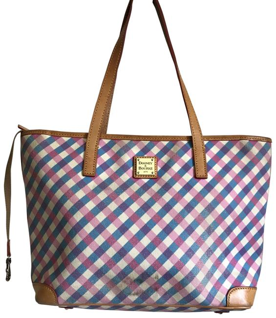 Item - White/Blue/Pink/Tan/Red Canvas Shoulder Bag