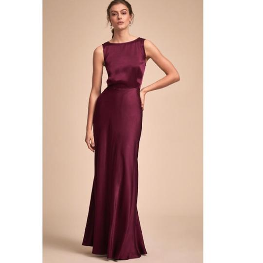 BHLDN Black Cherry Viscose Ghost London Alexia Formal Bridesmaid/Mob Dress Size 4 (S) Image 0