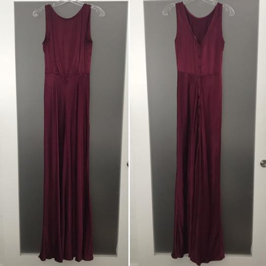 BHLDN Black Cherry Viscose Ghost London Alexia Formal Bridesmaid/Mob Dress Size 4 (S) Image 3