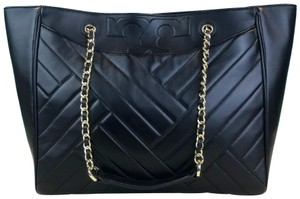 Tory Burch Leather Alexa Tote in Black