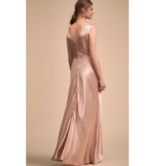 BHLDN Black Cherry Red Viscose Ghost London Alexia Formal Bridesmaid/Mob Dress Size 8 (M) Image 2