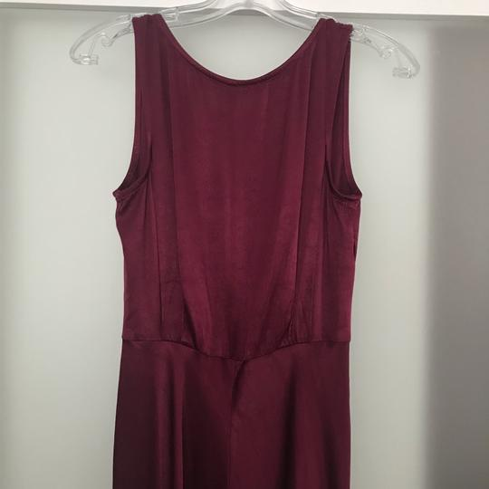 BHLDN Black Cherry Red Viscose Ghost London Alexia Formal Bridesmaid/Mob Dress Size 8 (M) Image 3