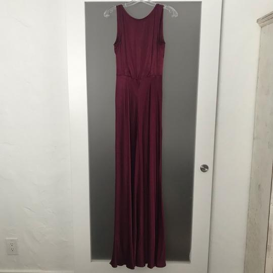 BHLDN Black Cherry Red Viscose Ghost London Alexia Formal Bridesmaid/Mob Dress Size 8 (M) Image 4
