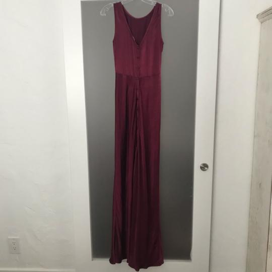 BHLDN Black Cherry Red Viscose Ghost London Alexia Formal Bridesmaid/Mob Dress Size 8 (M) Image 5