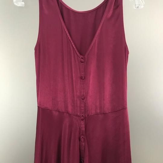 BHLDN Black Cherry Red Viscose Ghost London Alexia Formal Bridesmaid/Mob Dress Size 8 (M) Image 6