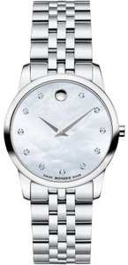 Movado Museum Classic Stainless Mother of Pearl Diamond Dial 0606612
