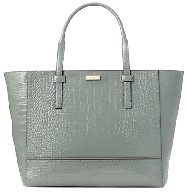 Item - Bedford Riverside Street Exotic Green Leather Tote