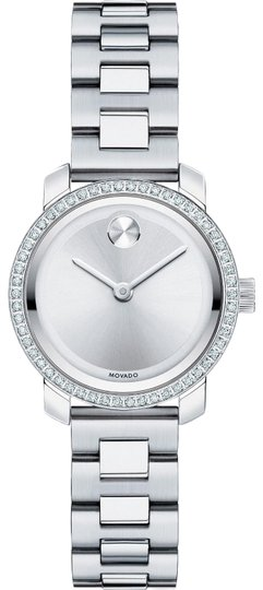 Preload https://img-static.tradesy.com/item/25381542/movado-silver-stainless-diamond-dial-watch-0-1-540-540.jpg