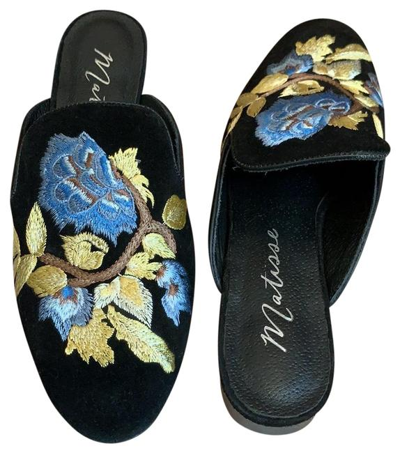 Item - Black Blue Brown Yellow Bianca Flats Size US 8.5 Regular (M, B)