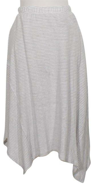 Eileen Fisher Dark Pearl Gray White Jersey XL Linen Stripe Asymmetrical Skirt Size 18 (XL, Plus 0x) Eileen Fisher Dark Pearl Gray White Jersey XL Linen Stripe Asymmetrical Skirt Size 18 (XL, Plus 0x) Image 1