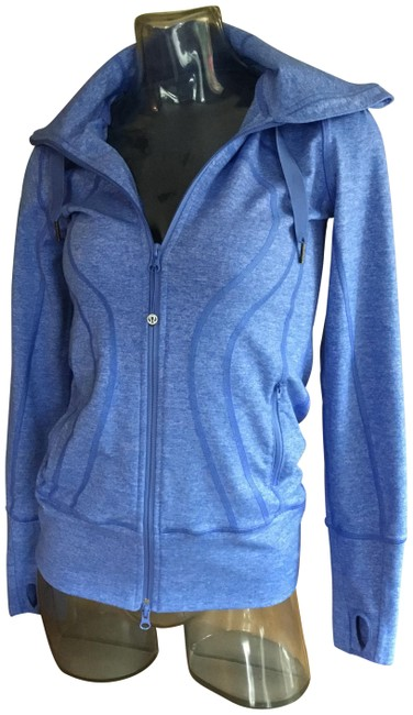 Item - Blue Running Zippered Hoodie Activewear Outerwear Size 4 (S)