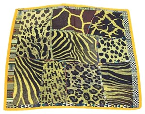 Hermès Hermes Silk and Cashmere Scarf / Wrap (Yellow and Green)