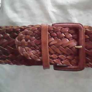 Lord & Taylor Woven Leather Belt