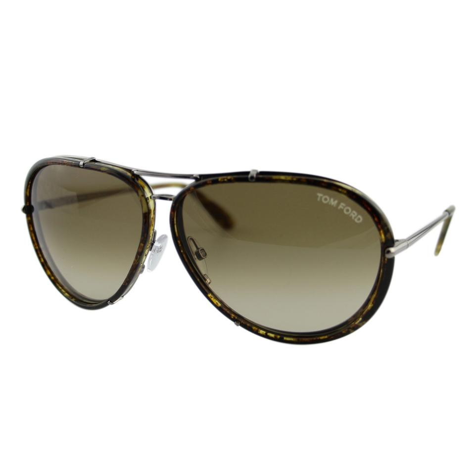 862a3a97e3e8 Tom Ford Brown New Tf Cyrille Ft-109 14p Olive Havana Gunmetal Pilot 63mm  Sunglasses